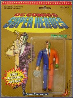 Toy Biz DC Comics Super Heroes Two Face Figure 1990 Retro Toys, Vintage Toys, Comic Book Heroes, Comic Books, Toys R Us Kids, Dc Comics Action Figures, Modern Toys, Classic Toys, Old Toys
