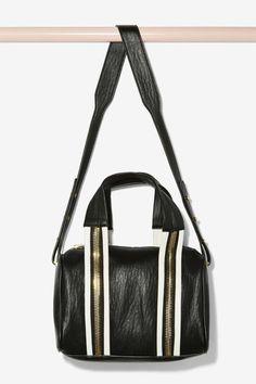 White Stripes Shoulder Bag
