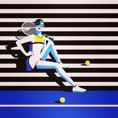 Tennis Pin Up by Malika Favre