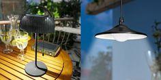 Na foto (zleva): Solární stolní lampa 2 v 1, podstavec lze odmontovat a svítidlo…