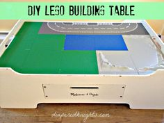 DIY Lego Table from a Melissa and Doug train table.