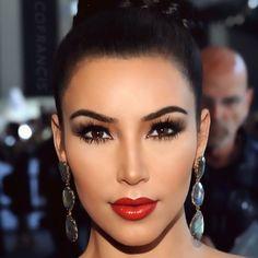 makeup inspiration for brown eyes: Kim Kardashian