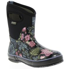 Classic Winter Blooms Mid Women's Insulated Boots - 71533 - Waterproof Boots & Shoes for Men, Women & Kids - Bogs