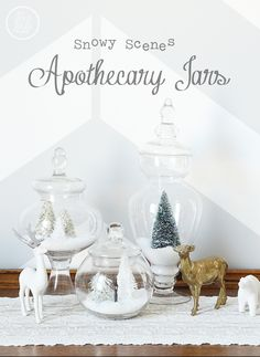 Snowy Scenes Apothecary Jars