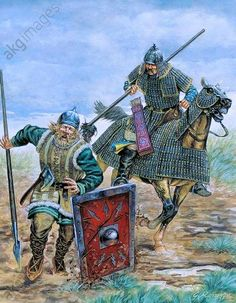 Historical Art, Historical Pictures, Military Costumes, Classical Antiquity, Mongolia, Ancient China, Fantasy Rpg, Dark Ages, Military History