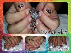 #nails #nailart #multicolor #original #design #summer