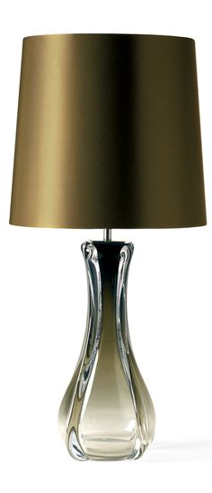 Table Lamps, Designer Olive Brown Art Glass Lamp, so elegant, one of over 3,000 limited production interior design inspirations inc, furniture, lighting, mirrors, tabletop accents and gift ideas to enjoy repin and share at InStyle Decor Beverly Hills Hollywood Luxury Home Decor enjoy  happy pinning