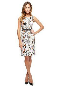 'Dazehra' | Stretch Cotton Abstract Floral Sheath Dress, Open Miscellaneous #HugoBoss #FashionDresses