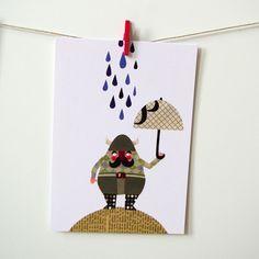 Postkarte (3er Set): Wikinger im Regen - AUSVERKAUFT