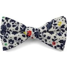 White and blue floral bow tie made of cotton#blue #bow #cotton #floral #tie #white Navy Wedding Colors Fall, Elegant Wedding Colors, Floral Bow Tie, Floral Hair, Moonlight Couture, Divas, Fall Color Palette, Bridal Hair Pins, Curly