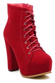 ROMWE   Shoelace Platform High Heel, The Latest Street Fashion