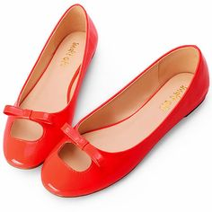 Cute Red Patent Leather Fashion Prom Party Dress Ballet Flats Shoes SKU-1090887
