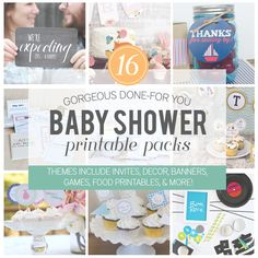 Super awesome Baby Shower Printable Pack with over 400 pages!