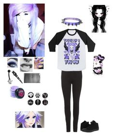 """kawaii emo rebel"" by dreadful-glassheart ❤ liked on Polyvore featuring Converse, Acne Studios, Samsung, Bling Jewelry and Lime Blue"