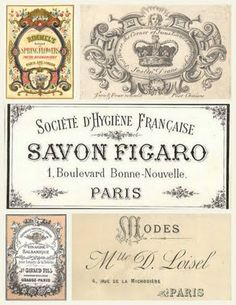 .FREE RARE FRENCH VINTAGE ...printables