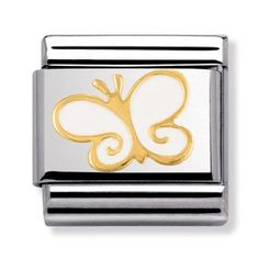Nomination Nature - White Butterfly Charm 030278-0 03