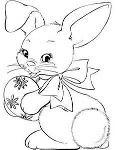 Cute Easter Coloring Page For Kids is part of easter coloring pages ...