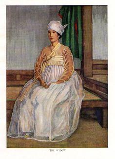 """1946 Original Elizabeth Keith Vintage Print The Widow """"Old Korea"""""""
