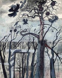 Edward Bawden (British, 1903-1989), The Rookery, 1954. Gouache, ink and pencil, 56.5 x 45 cm.