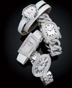 Shapely Diamond Watches....DVF for  H Stern, Ralph Lauren, Cartier, Vacheron Constantin