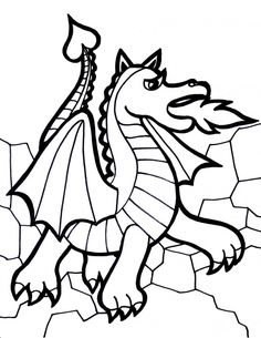 coloring pages of dragons printable