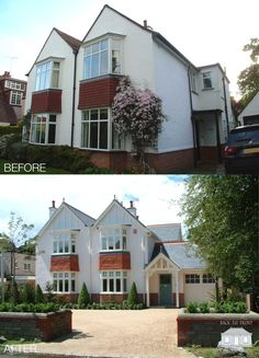 How to transform your home. Traditional character has resurrected this home in a dramatic exterior transformation. By Back to Front Exterior Design