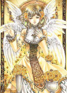 Angel with wings by manga artist Shiitake.