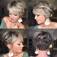 Hair Beauty - charming short ombre hairstyles ideas for women 7 hairstyle fashion shorthairstyle < moeshouse Short Hair With Layers, Short Hair Cuts For Women, Cuts For Thick Hair, Short Thick Hair, Short Stacked Hair, Short Cuts, Pixie Haircut For Thick Hair, Pixie Bob Haircut, Short Hairstyles For Women