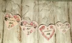 Personalized wooden heart Shabby by CottageVintageShabby on Etsy