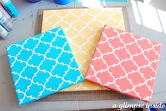Nursery colors coral, turquoise, yellow.. Could use as decor or a bulletin board