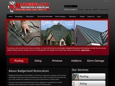B2 Web Studios' Joomla website design for Badgerland Restoration in Waupaca, Wisconsin - http://badgerlandrestoration.com