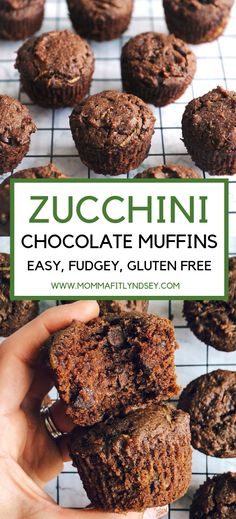 Double Chocolate Zucchini Muffins Healthy Chocolate Zucchini Bread Muffins Gluten Free Delicious for a dessert or breakfastHealthy Chocolate Zucchini Bread Muffins Gluten. Healthy Chocolate Zucchini Bread, Zucchini Bread Muffins, Double Chocolate Zucchini Muffins, Healthy Chocolate Muffins, Gluten Free Zucchini Bread, Chocolate Gluten Free Desserts, Bacon Zucchini, Zucchini Fritters, Baking Chocolate