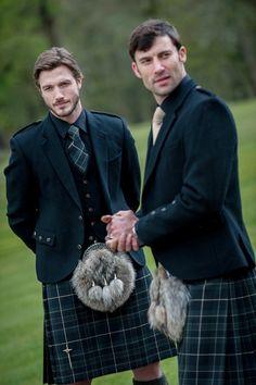 Kilts at a wedding - it's a beautiful thing.