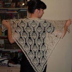 Golden Pineapple pattern by Burda Design Team Thread Crochet, Crochet Scarves, Crochet Shawl, Free Crochet, Knit Crochet, Silk Thread, Crochet Stitches, Pineapple Crochet, Pineapple Pattern