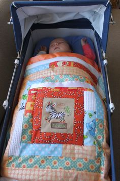 Bassinet Quilts make great travelling play mats also for floor time when out and about