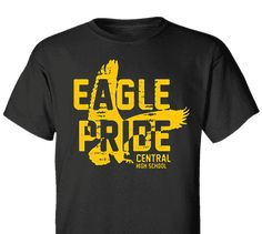 Custom Spirit High School T-Shirt Design Spiritwear Eagle pride distressed