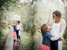 Family photography ideas, mother daughter poses, fall family photos, anne burgess photography, family photos in the rain, family photos with umbrellas, rainy day family photos