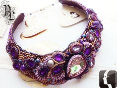 """Buy necklace """"Zodiac sign Gemini"""" - purple, zodiac signs, zodiac sign Gemini"""