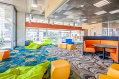 Teen Center Open Space with Fun Furniture - New San Diego Central Library Downtown