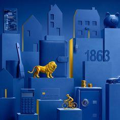 Lcl bank on behance commercial photography, colour block, layout design, ar Blender 3d, Ad Design, Layout Design, Swatch, Ad Layout, Branding, Blue Art, Grafik Design, Color Of The Year