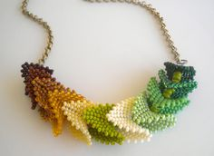 Green Origami Necklace by RareSpecimens on Etsy