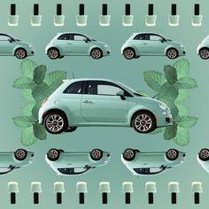 Poczuj powiew świeżości z Fiatem 500 w zielonym kolorze lattementa.