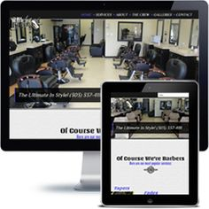 1st Class Barbers website built with Wordpress using responsive web design.