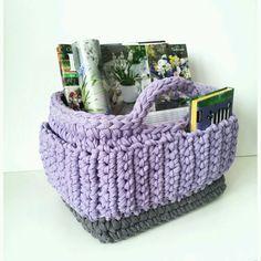 Knitted basket / Купить Корзина Сирень - сирень, сиреневый, Корзина для хранения, корзина для игрушек, корзина для рукоделия