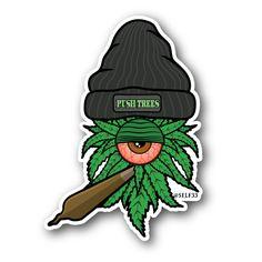 Dope As Yola Clopse - Weed Cyclopse Vinyl Sticker Desenho New School, Medical Marijuana, Stoner Art, Weed Art, Dope Art, Graffiti Art, Trippy, Clown Tattoo, Skull Art