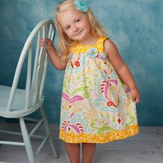 Square Neck Top and Dress Pattern - Girls Dress or Jumper by Tie Dye Diva Patterns