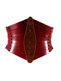 This oxblood leather waist-cincher is a thing of beauty, truly.  Shaped Front Corset | Not just a label.