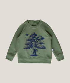 'Dream Tree' Sweatshirt - 100% Organic Pima Cotton#cotton #dream #organic #pima #sweatshirt #tree Scandinavian Kids, Scandinavian Fashion, Buy Buy Baby, Tree Print, Girls Sweaters, Unisex Fashion, Kids Wear, Boy Outfits, Organic Cotton