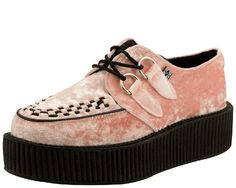 Picture of Pink Crushed Vegan Velvet Viva Mondo Creeper - A8821