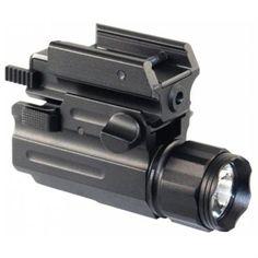 AIM Sports Flashlight / Laser Combo w/ Quick Release Mount - Bulb - 3 W - CR123A - Anodized AluminumBody - Black - LFQC01 - Rakuten.com